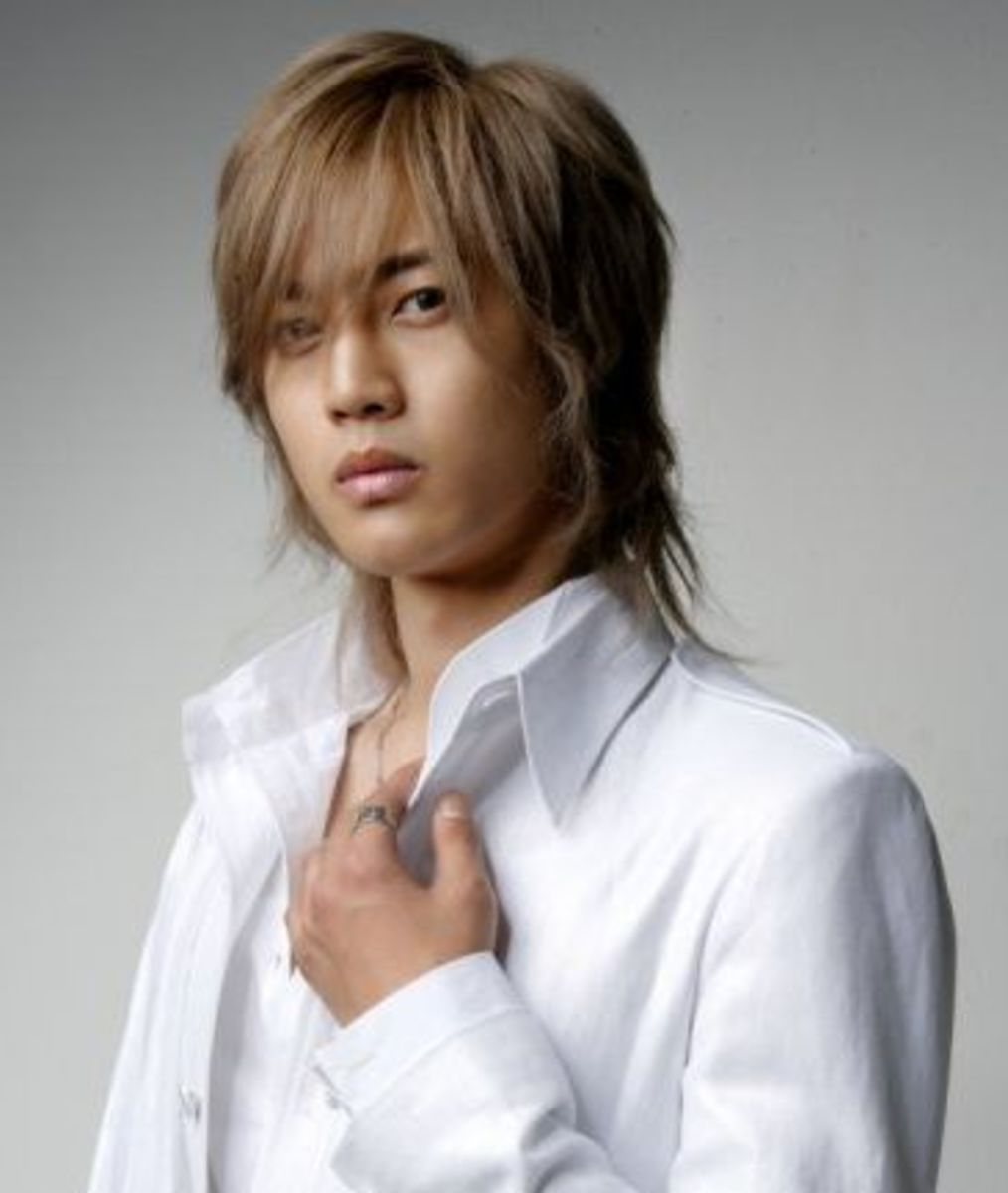 Kim Hyun Joong long hair.