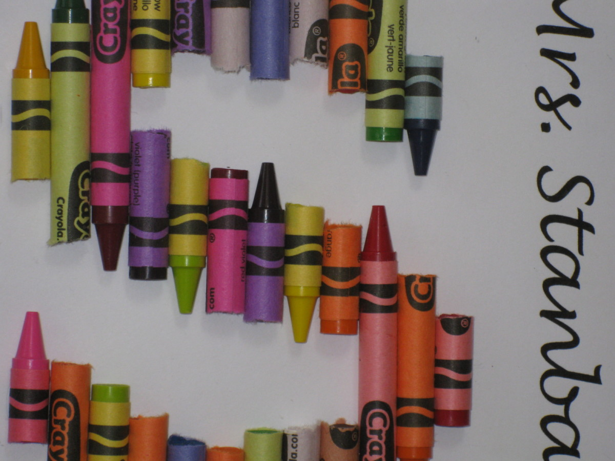 close-up of broken crayons (click on image to see it larger)