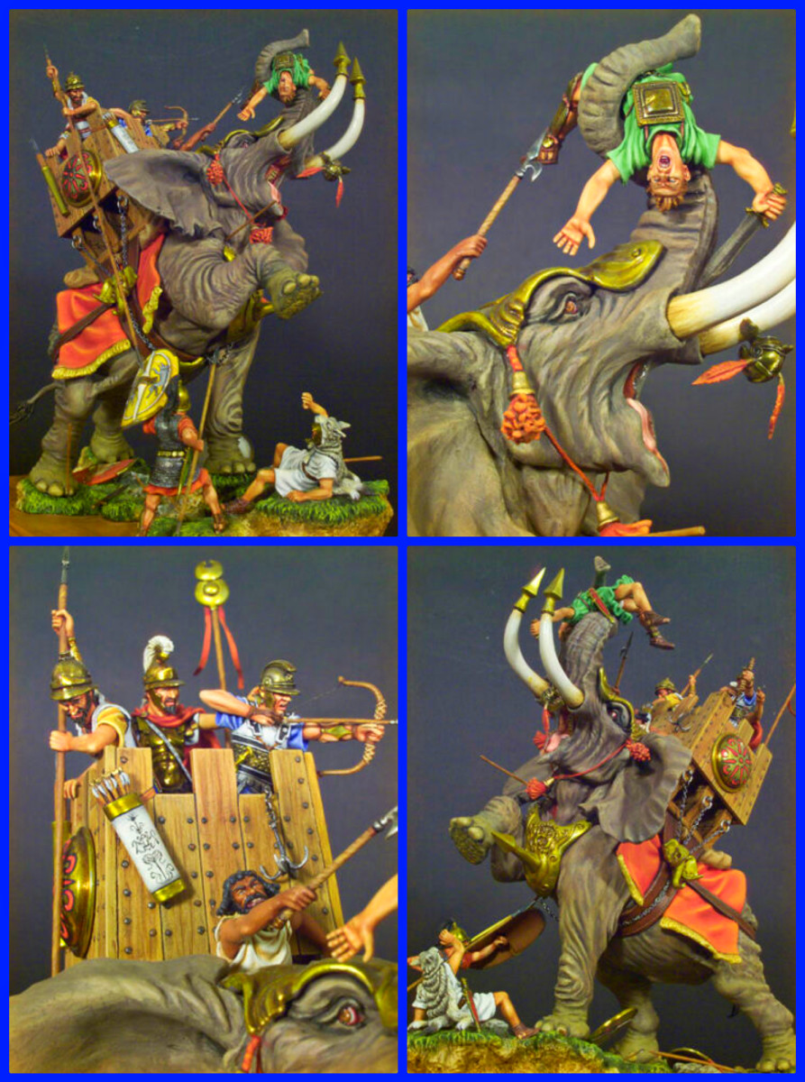Hannibal Barca used the Carthaginian War Elephants in his War with Rome