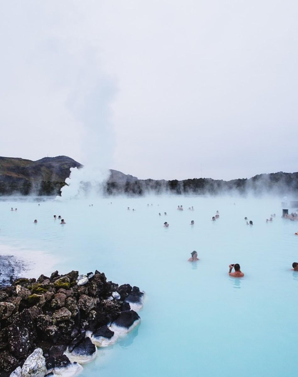 Blue Lagoon geothermic pool, Iceland.