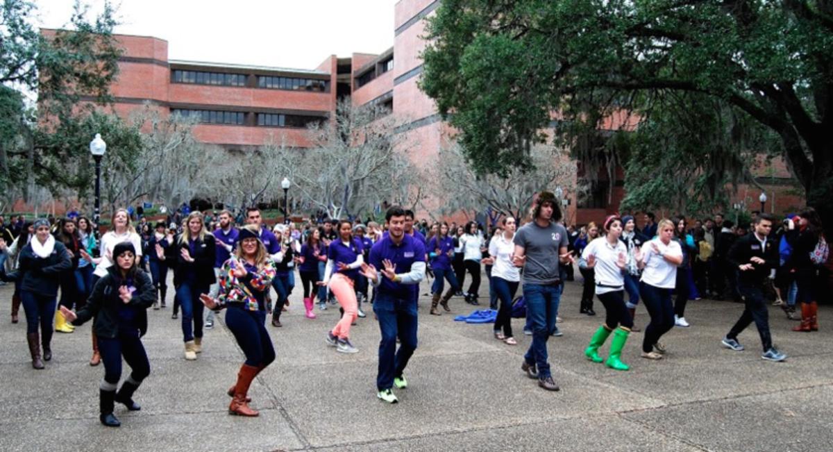Flash Mob dancing in public.