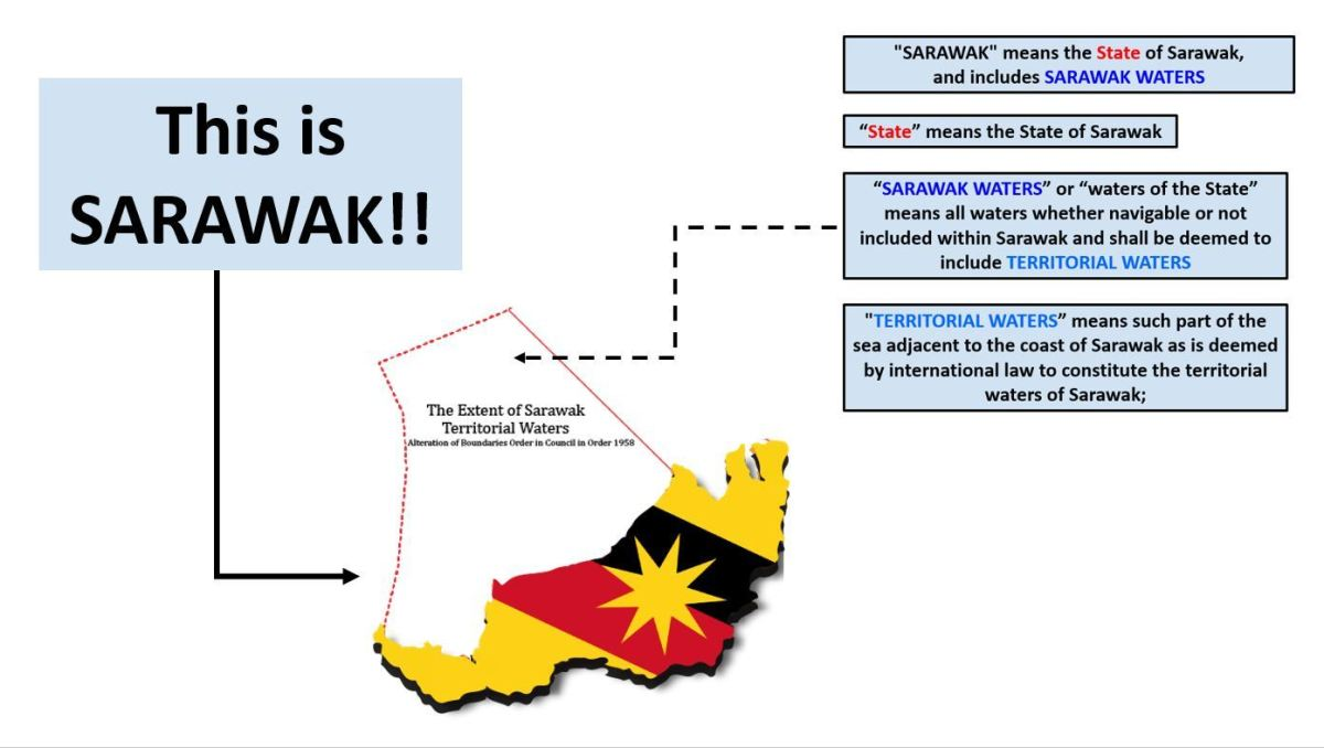 The constitutional definition of what constitute as Sarawak and its territorial waters
