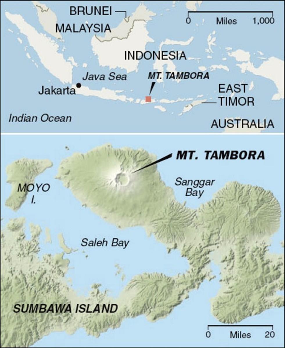 Location of Mt. Tambora