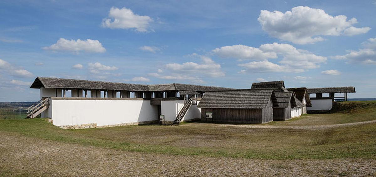 The prehistoric hillfort of Heuneburg.