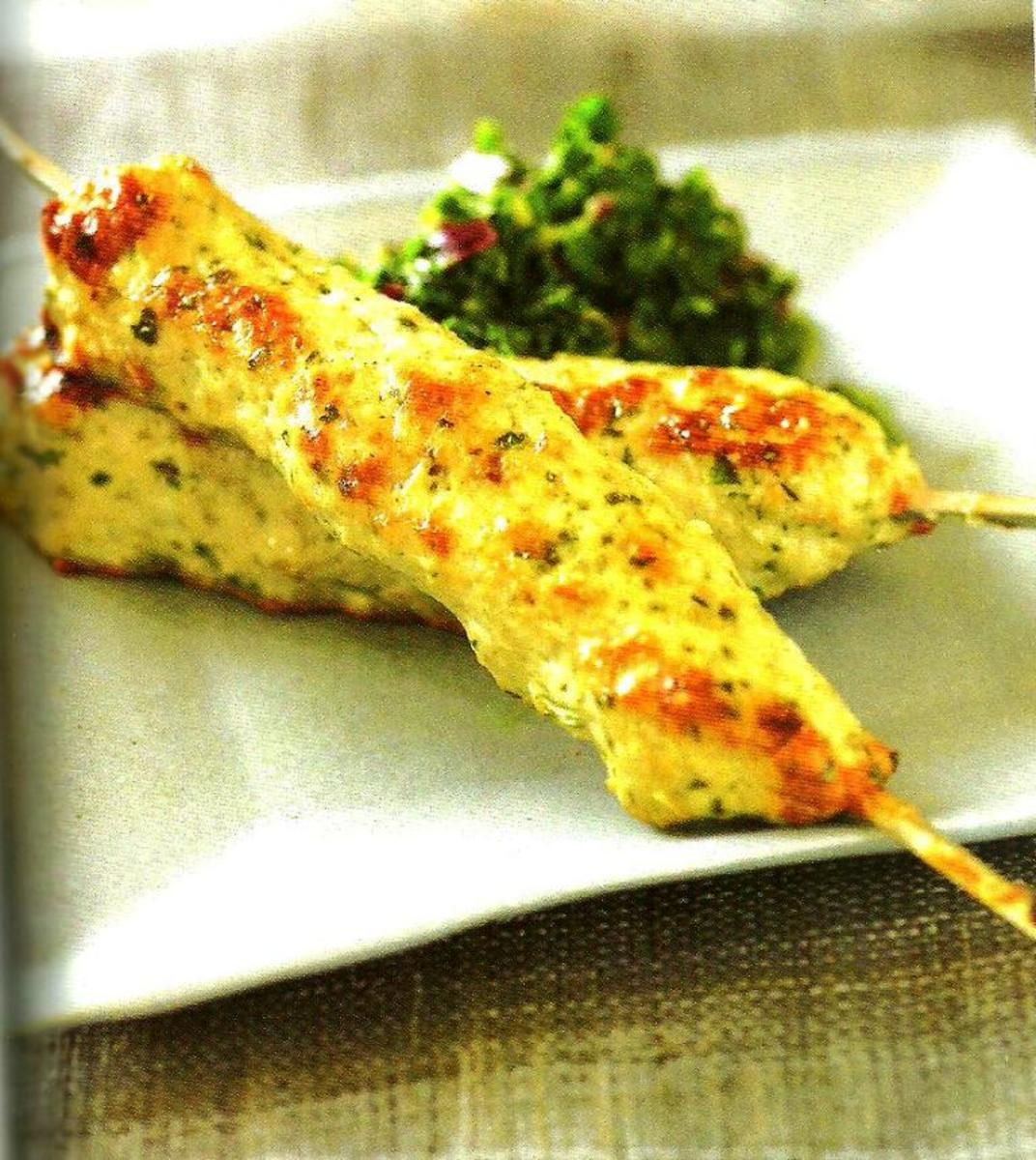 Silky Chicken Kebabs Recipe.