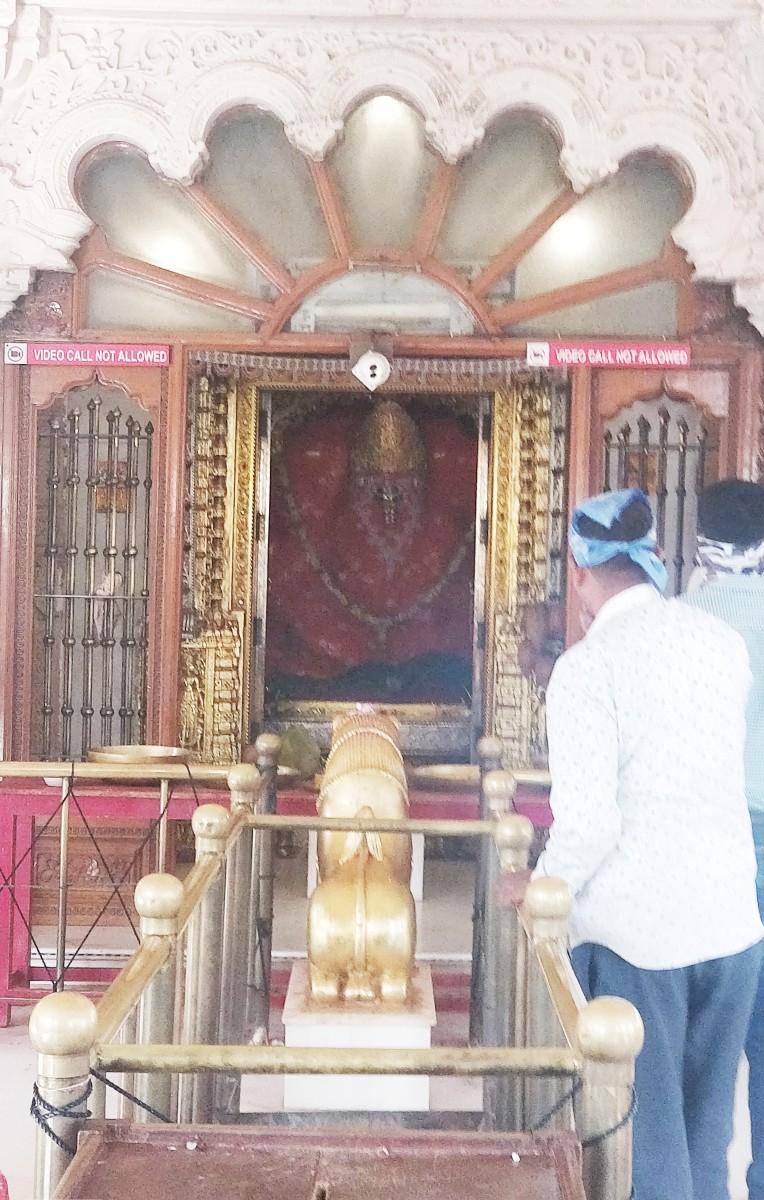 "The Sanctum; ""Mata No Madh"" temple"