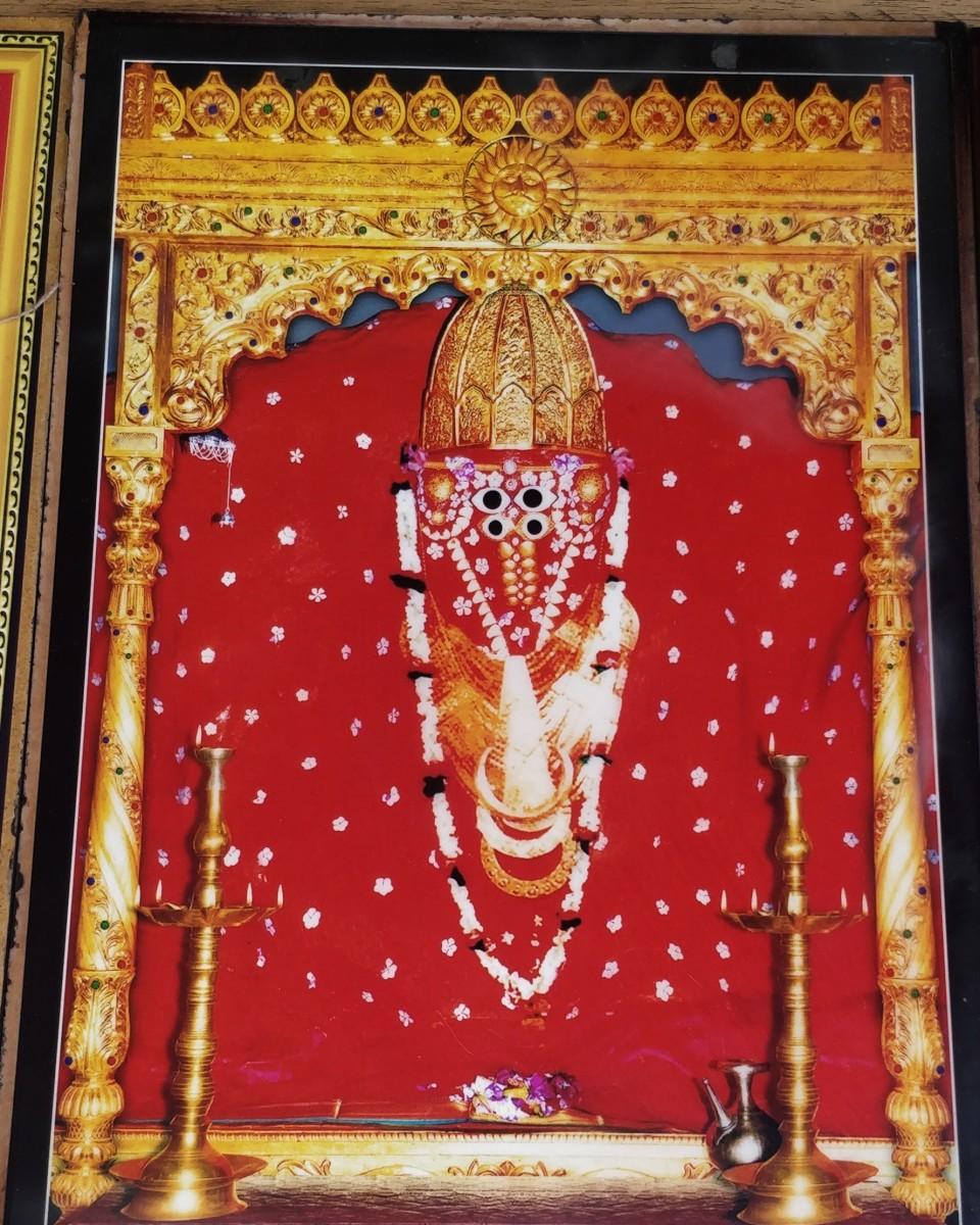 """A commercial photo of Goddess Ashapura Mata of """"Mata No Madh"""""""