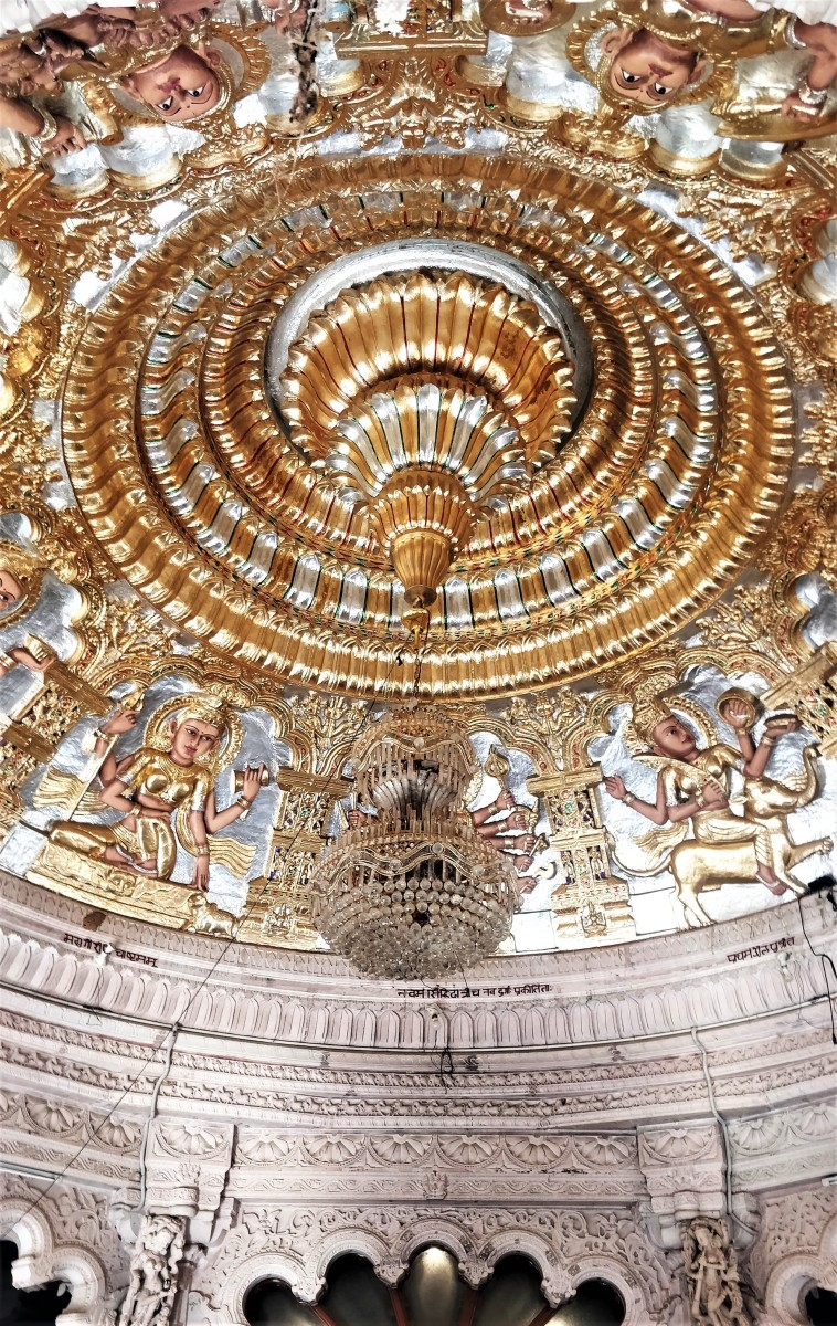 """Decoration of the ceiling; """"Mata No Madh"""" temple"""