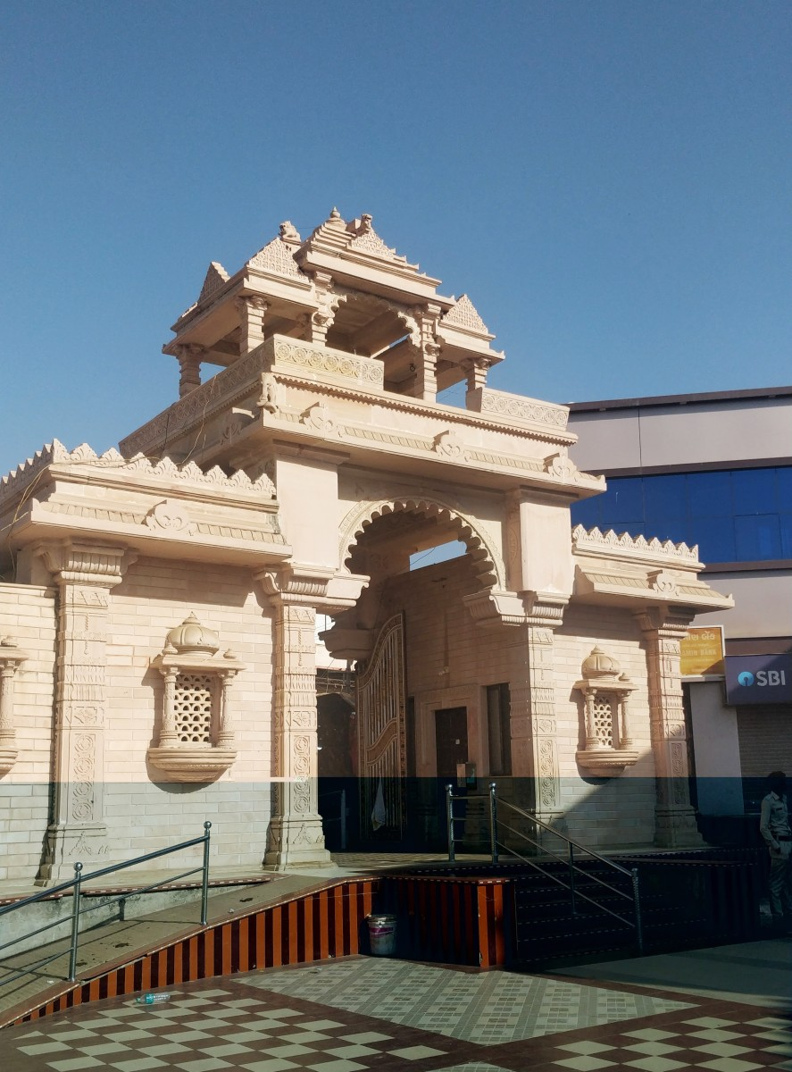 """The """"TORANA"""" or the main gate of the temple"""