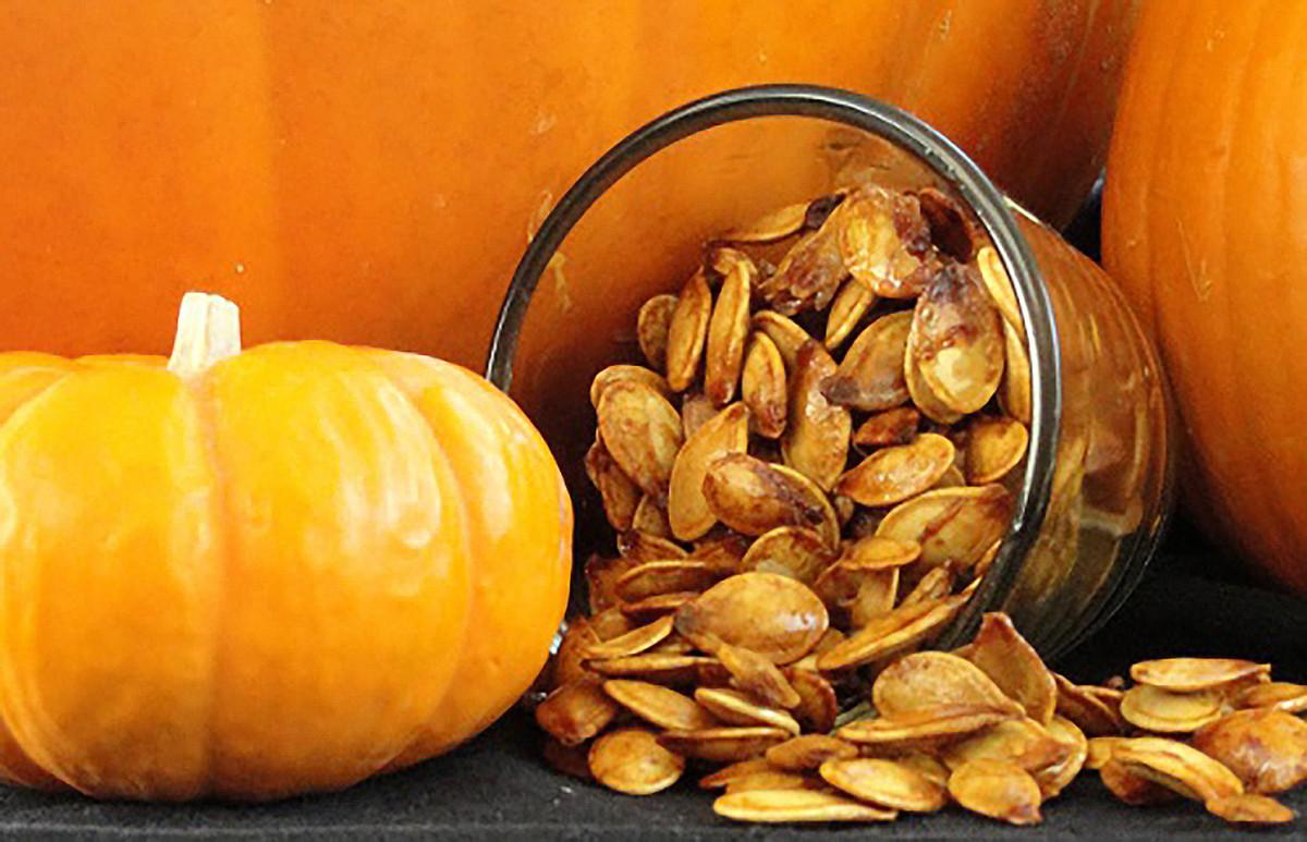 Cinnamon roasted pumpkin seeds taste like autumn.