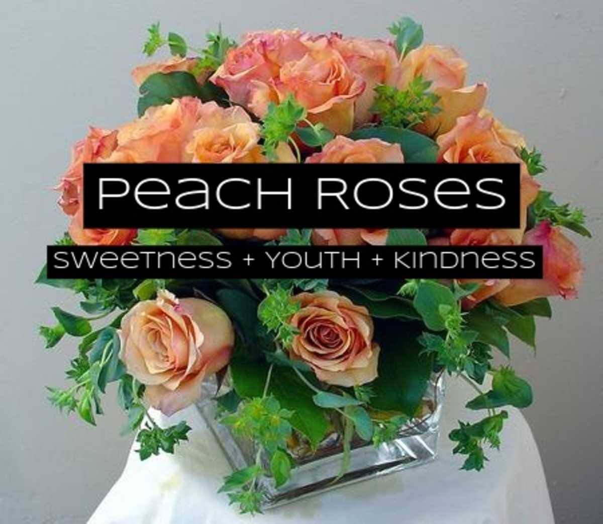 Peach roses are all about sweetness. Give them to younger people in your family.
