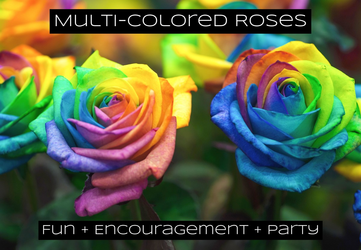 Bring out the multi-colored roses when you want to party.