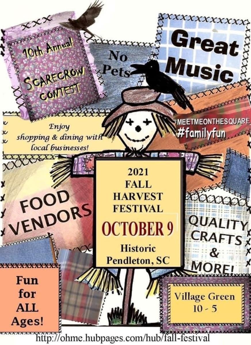 Fall Harvest Festival In Pendleton SC - October 9, 2021