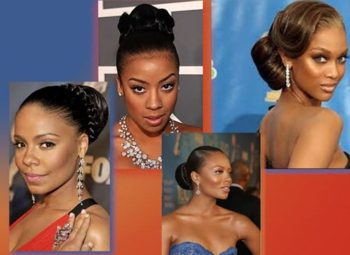 african hair, buns, synthetic, updos, neat bun, afro, hairstyle
