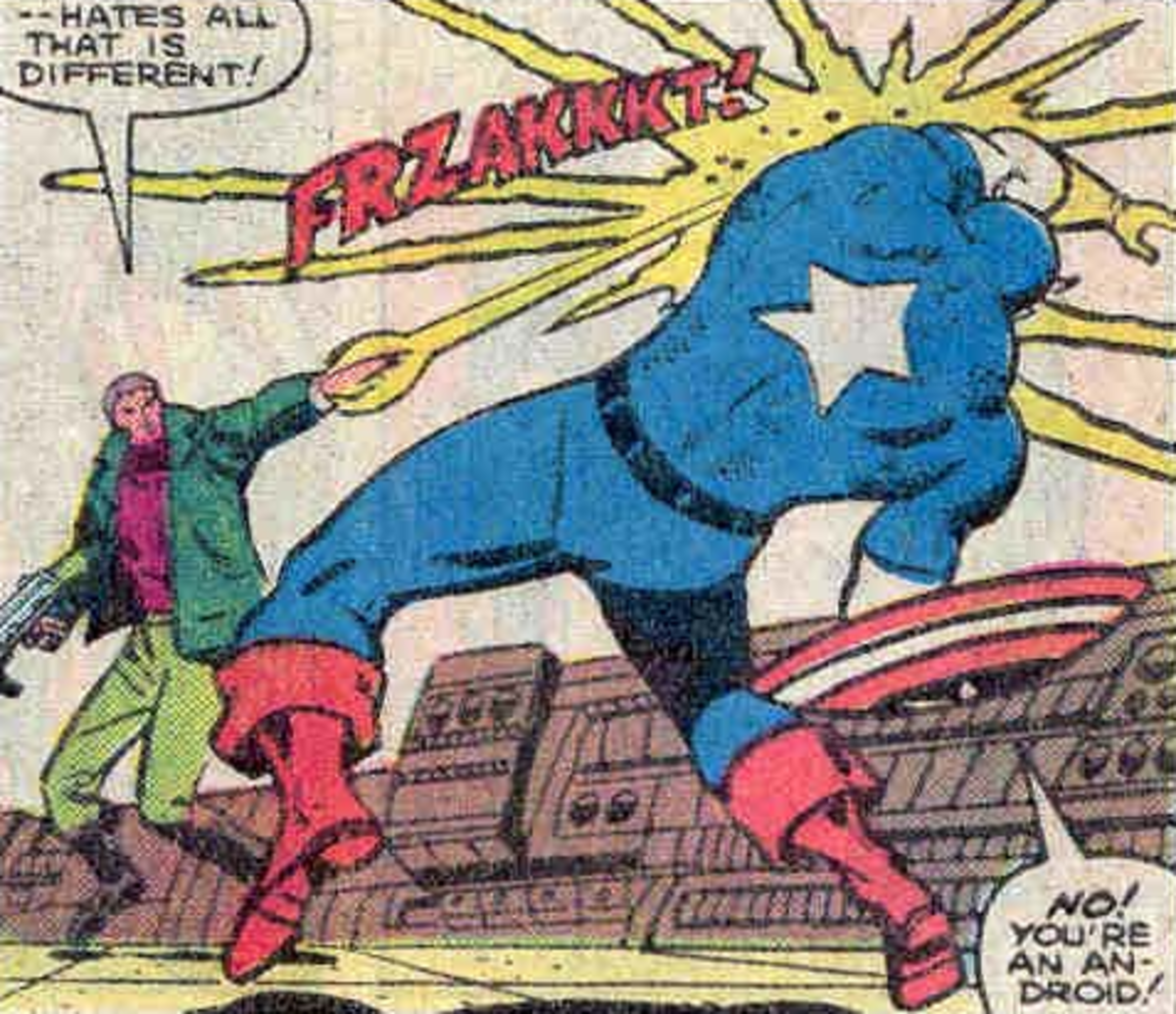William Burnside aka Steve Rogers aka The Commie Basher Cap aka The Grand Director.  His Captain America uniform did not have stripes on his back.