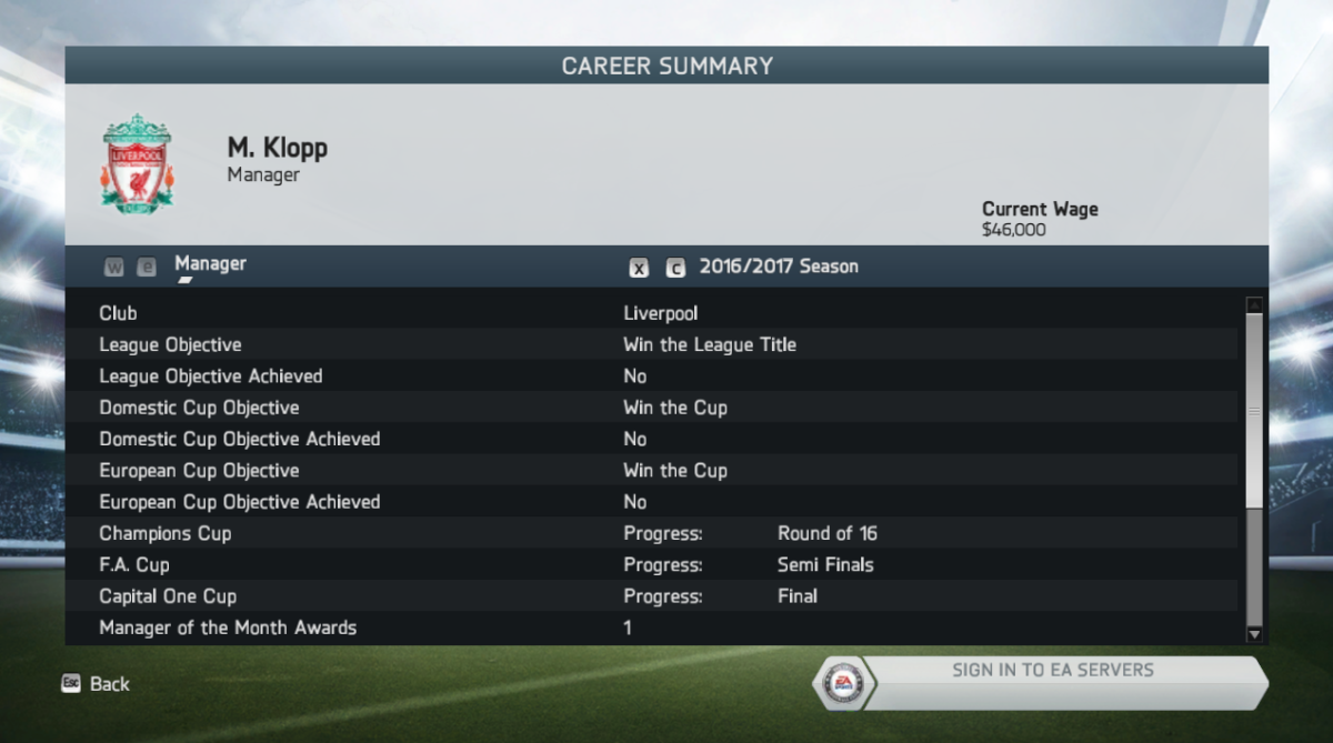 My 2016/17 Season with Liverpool FC in FIFA 14