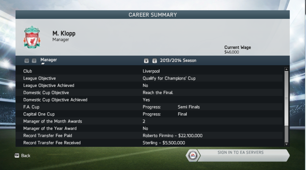 My 2013/14 Liverpool FC season in FIFA 14