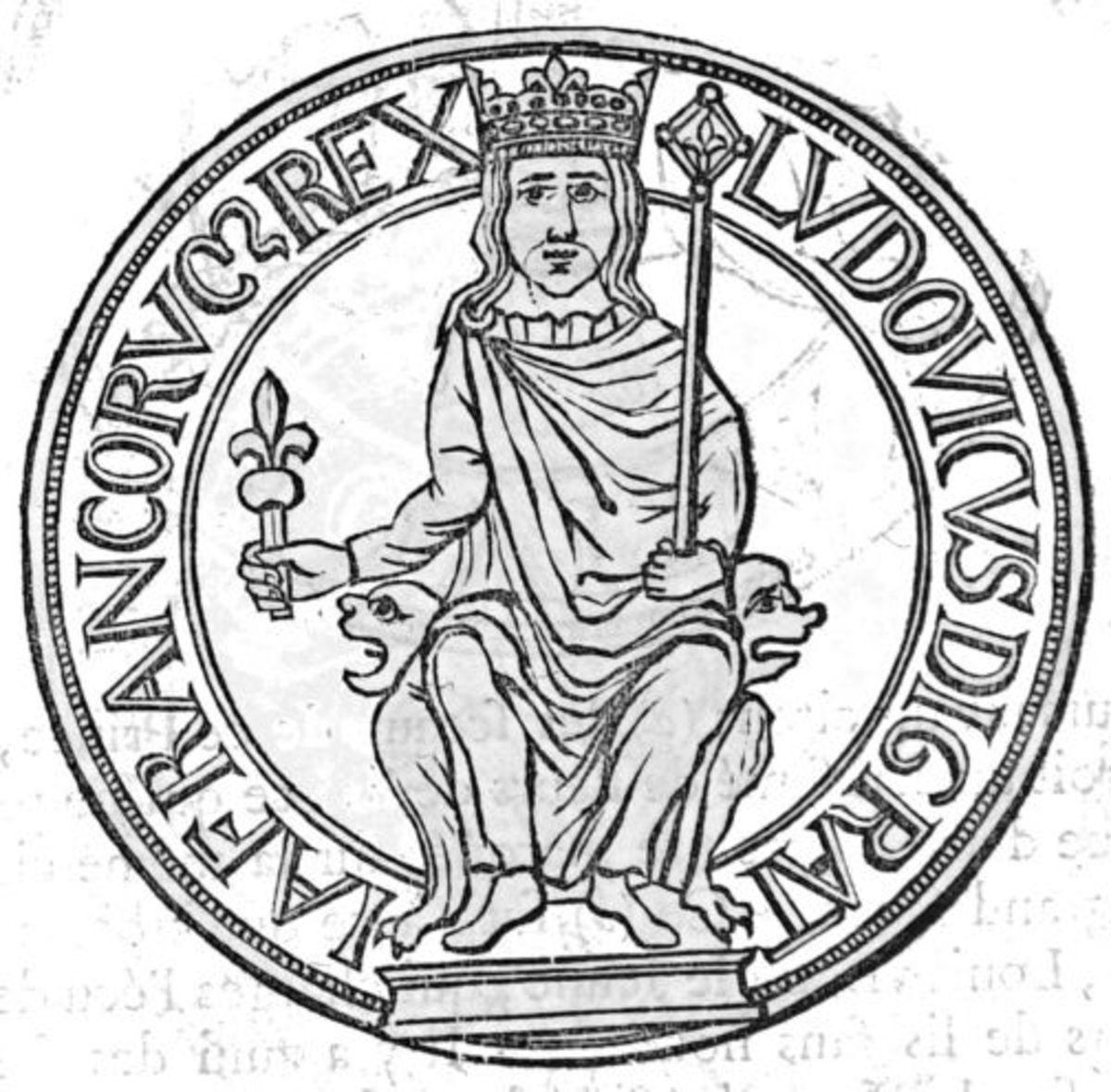 Louis VII of France's royal seal.