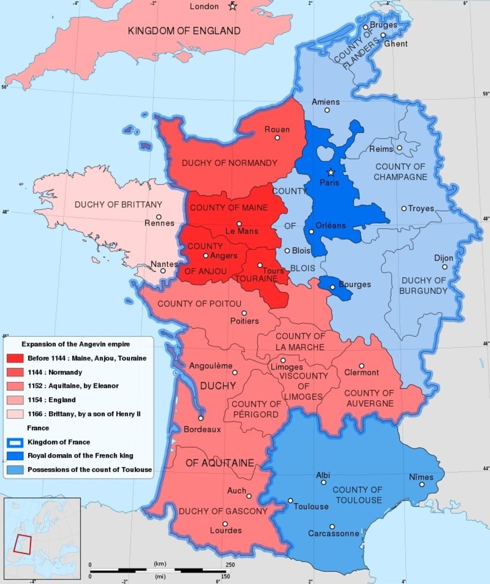 France, Anjou and Aquitaine circa 1154