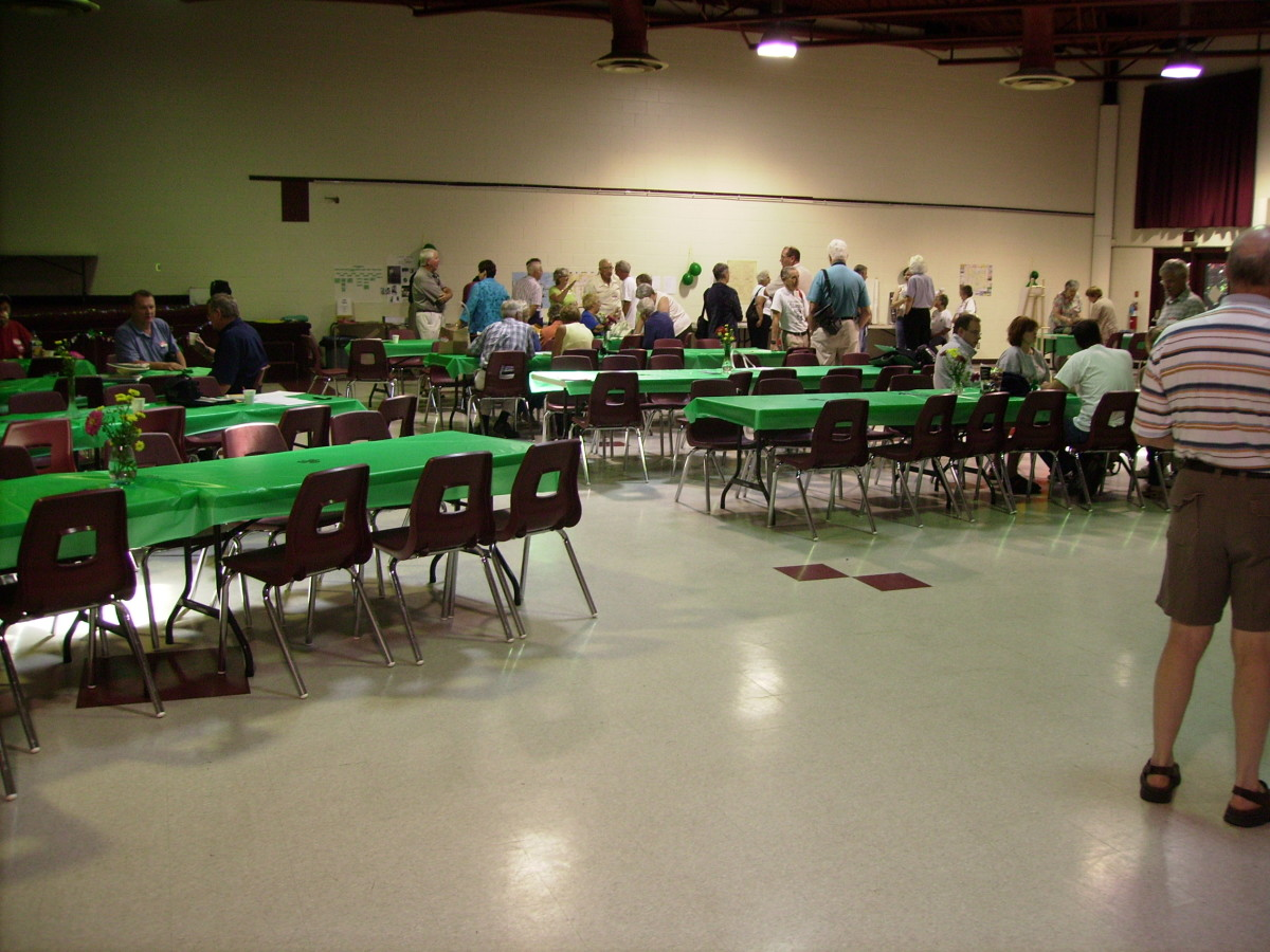 O'Connor-Trainor Renunion Luncheon in Community Center in Lansdowne, Ontario, Canada