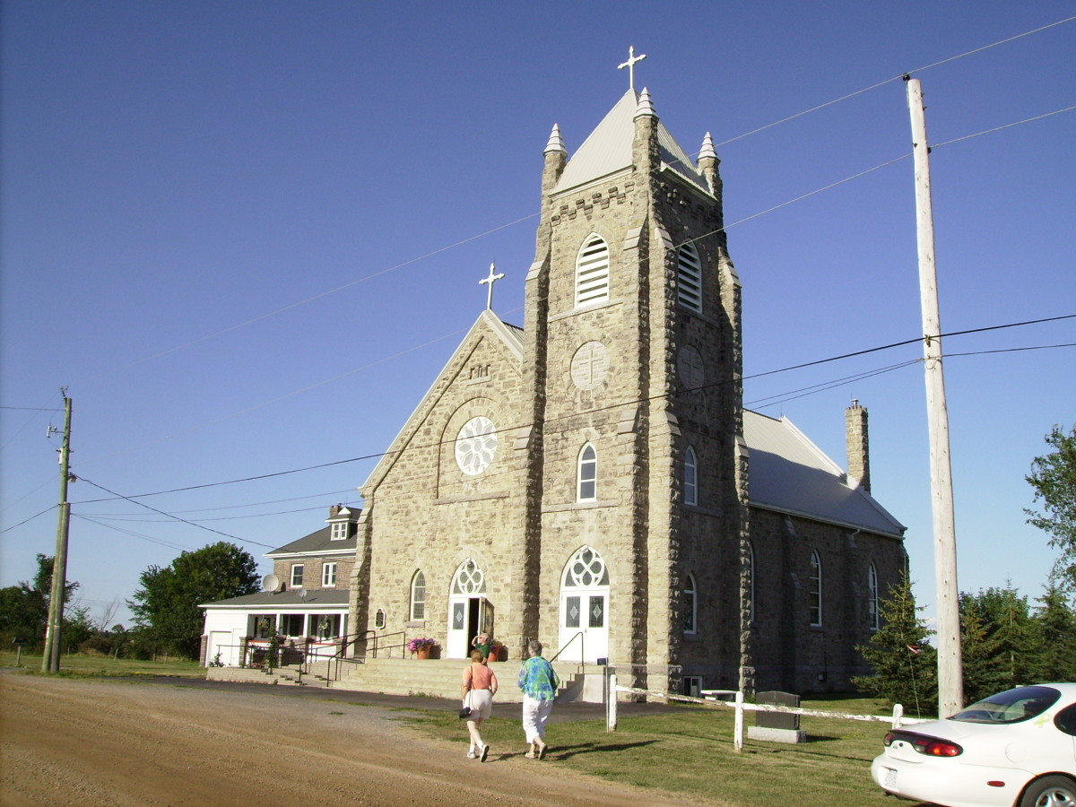 St. Patrick's Catholic Church outside of Landsdowne, Ontario, Canada where Daniel O'Connor and his family worshiped.