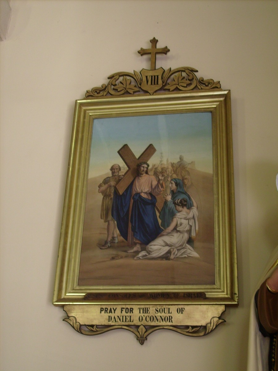 8th Station of the Cross,commissioned by Daniel O'Connor, in St. Patrick's Catholic Church outside of Landsdowne, Ontario, Canada.