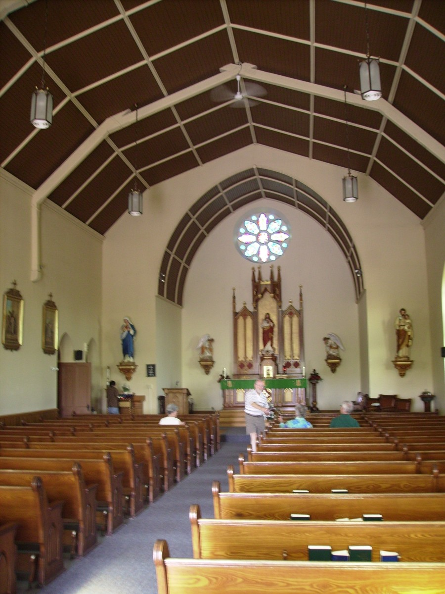 Interior of St. Patrick's Catholic Church outside of Landsdowne, Ontario, Canada where a Mass was held for Daniel & Bridiget O'Connor and their descendants at the 2006  O'Connor-Trainor Reunion