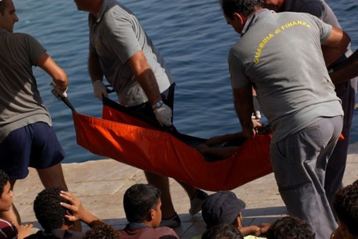 Sadly, this is how far too many migrants arrive on Lampedusa.