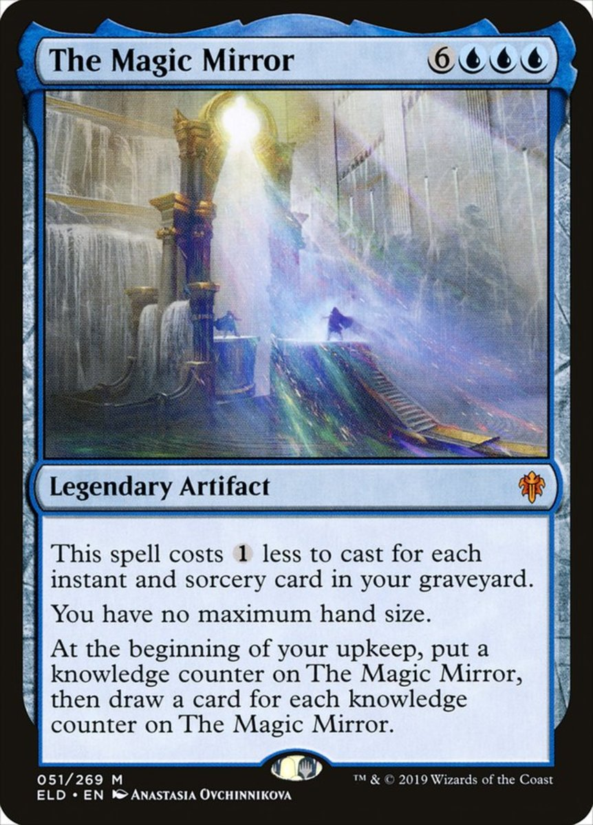 Magic Mirror costs less based on your graveyard's instants/sorceries