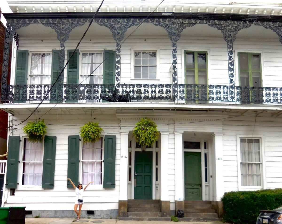 An Airbnb we stayed at on Bourbon Street.