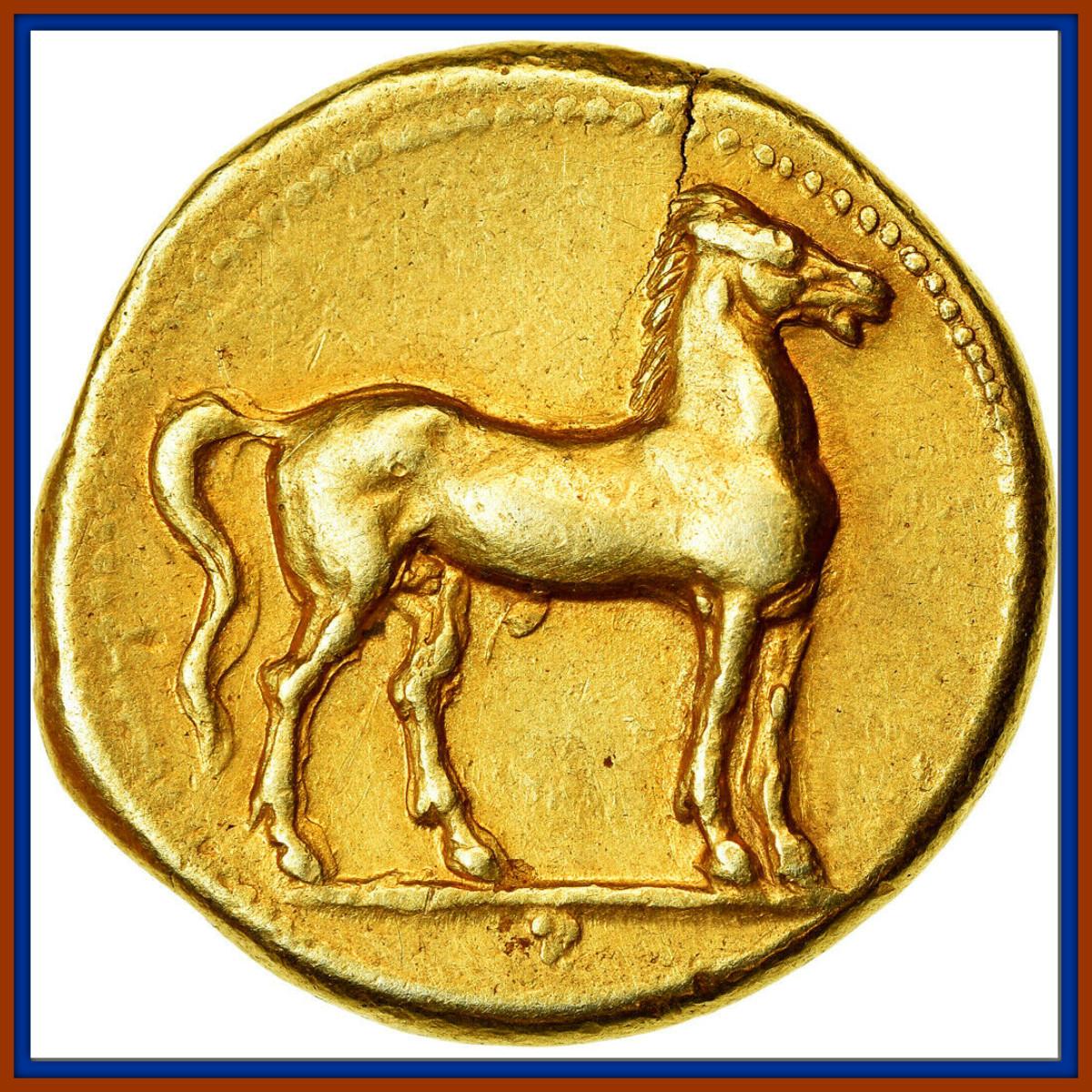 Carthage, Zeugitane, Stater, 310-270 BC