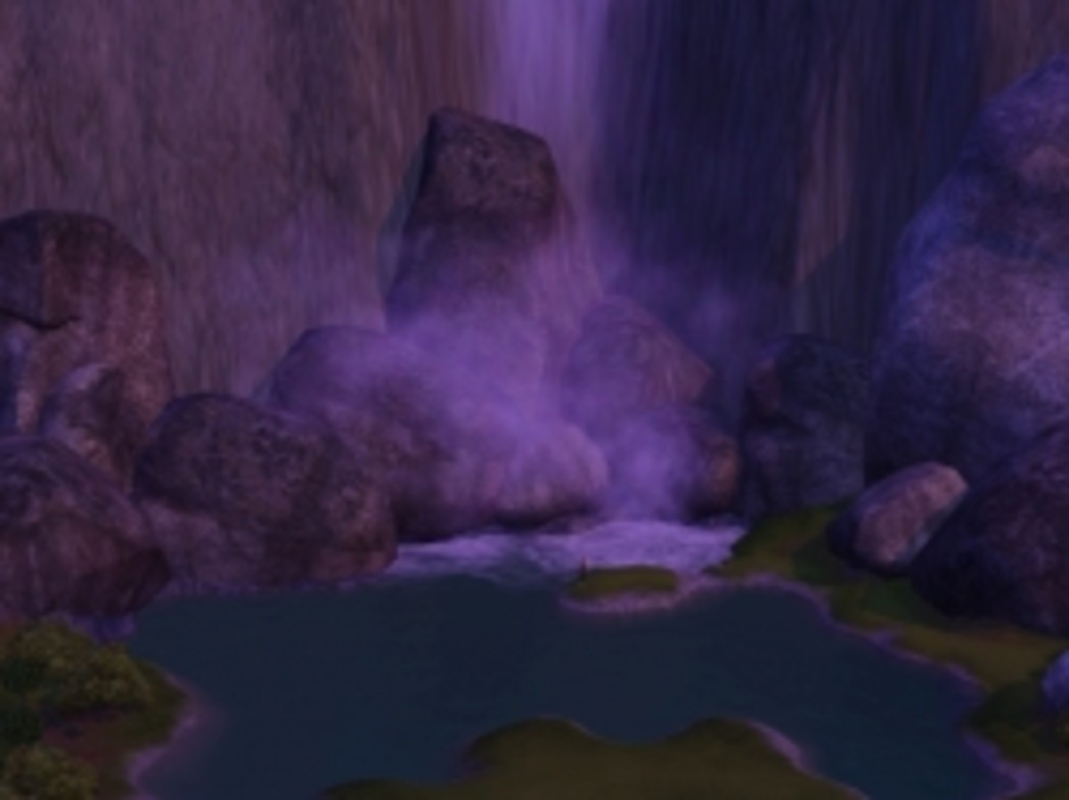 Fishing at Stoney Falls in The Sims 3