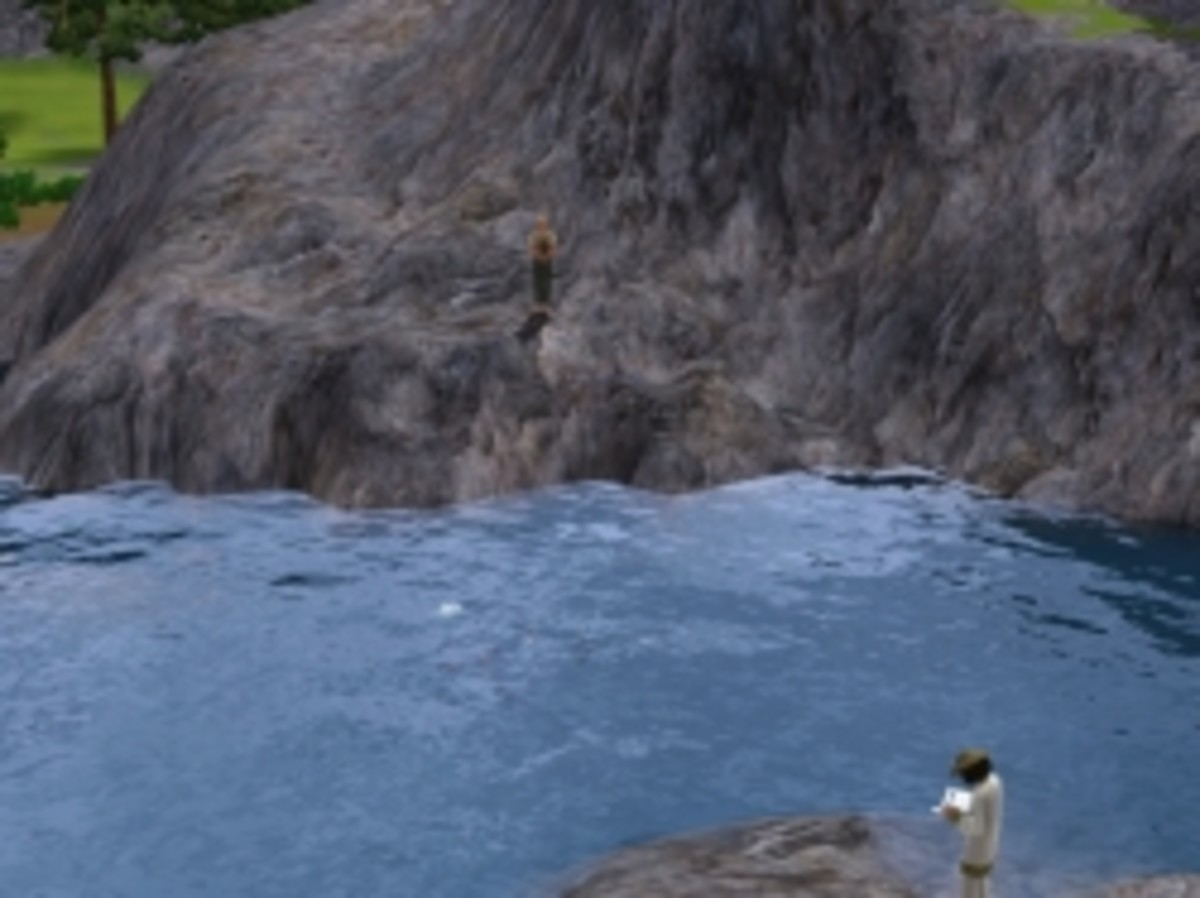 Fishing at Crystal Springs in The Sims 3