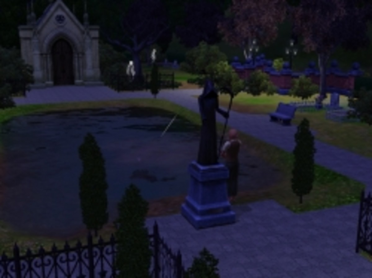 Pleasant Rest Graveyard in Sunset Valley in The Sims 3
