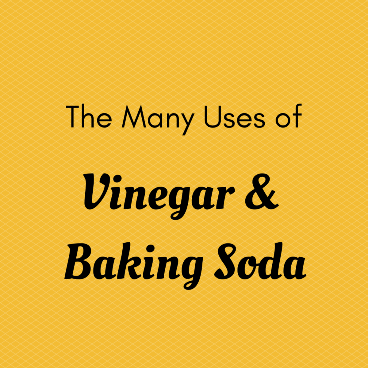 Use vinegar and baking soda for cleaning, gardening, bread baking, and more!