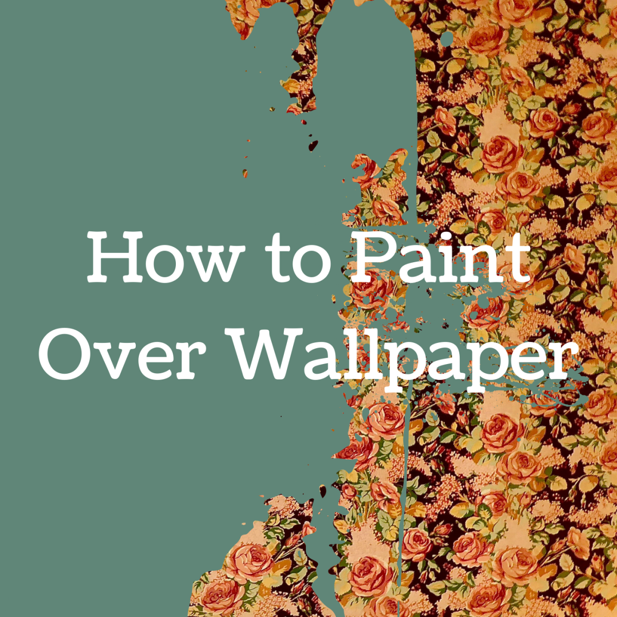 Got some unattractive wallpaper that you want to cover up? Learn how to paint over it the right way.