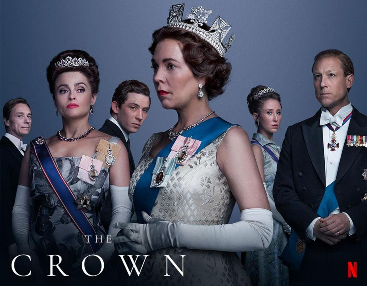 The promotional poster for the Netflix original show, The Crown.