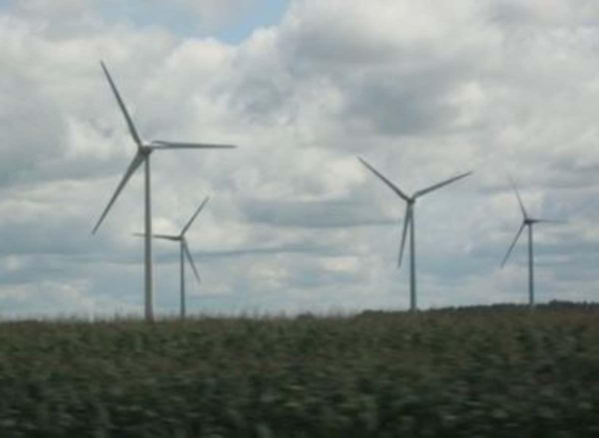 Wind generator field.