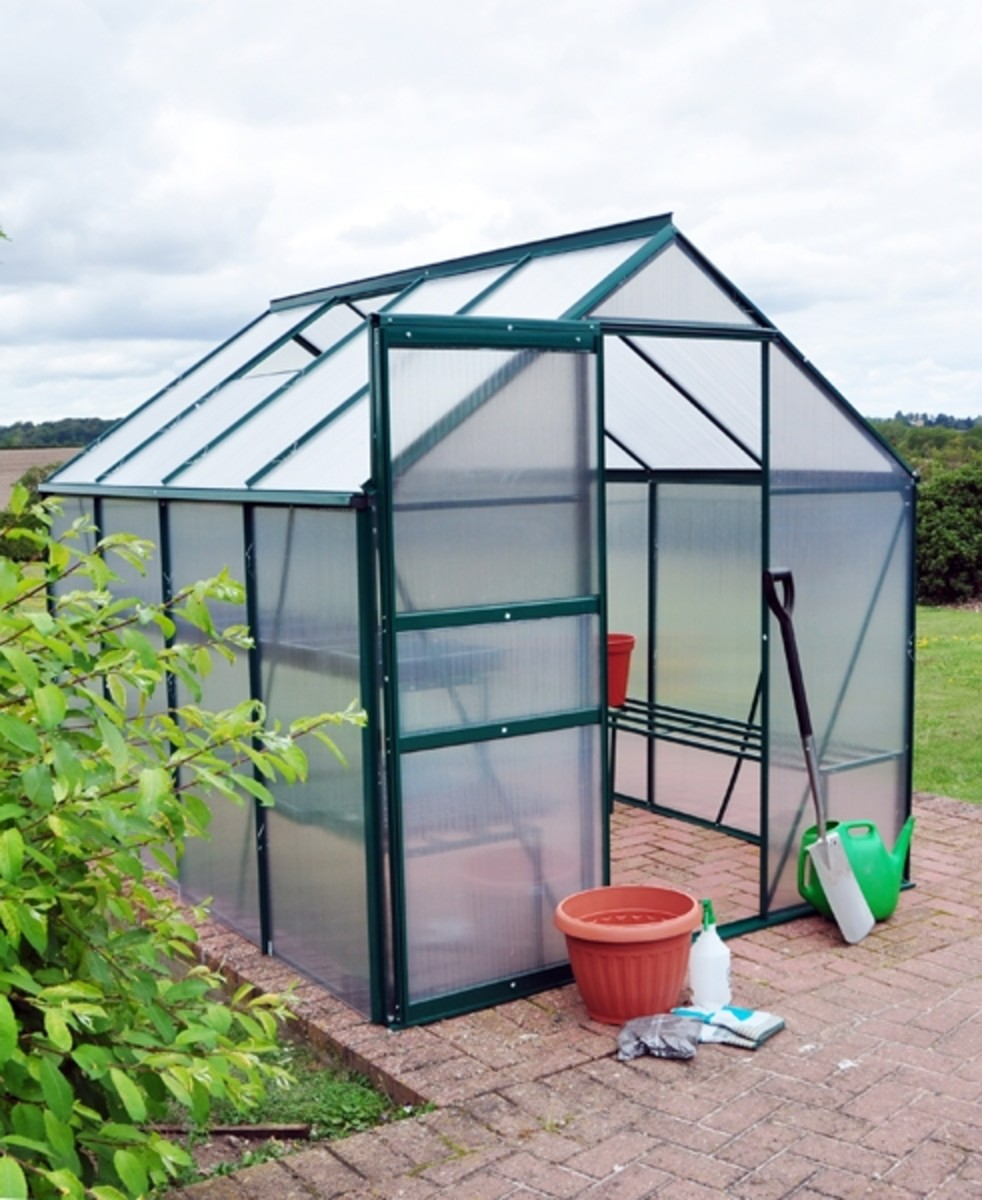 Kingfisher 6x8 Aluminium Greenhouse