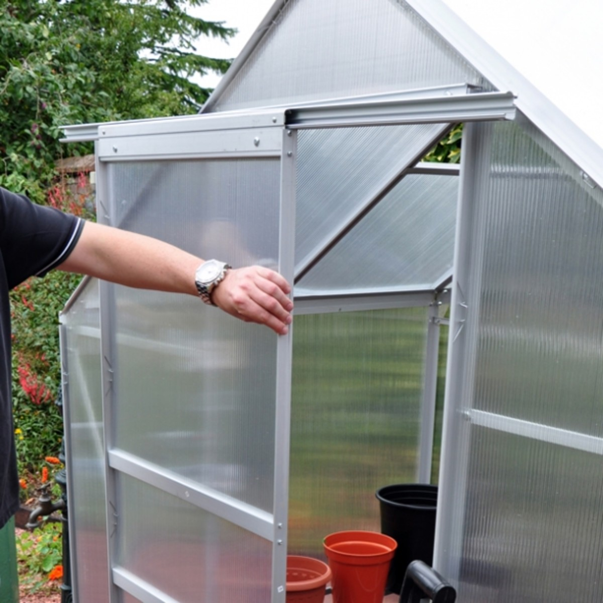 Kingfisher Greenhouse 6x4 Sliding Door