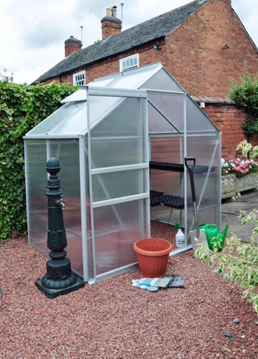 Kingfisher Silver 6x4 Greenhouse