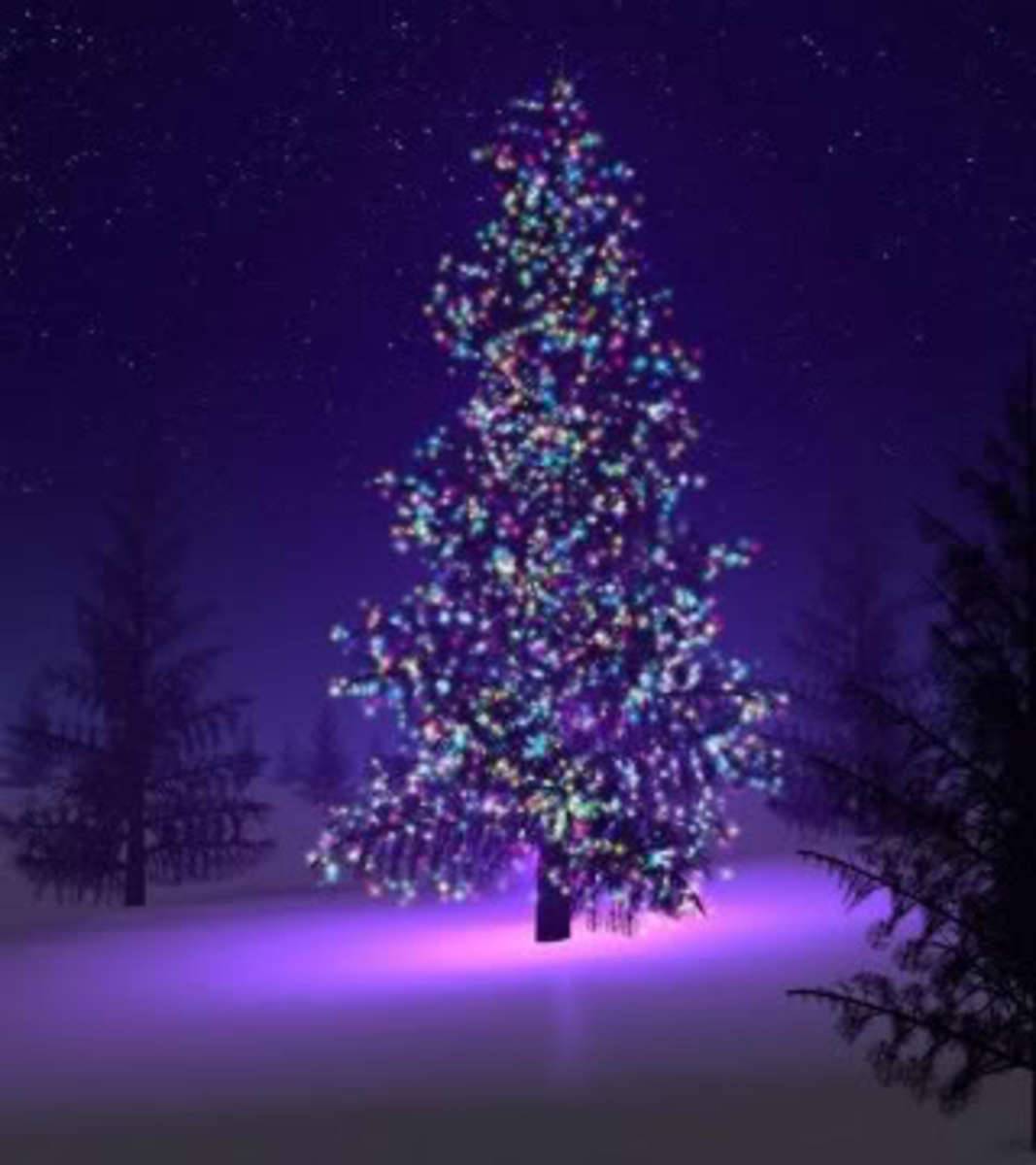 A Christmas Tree Decorated Just for You and Me.