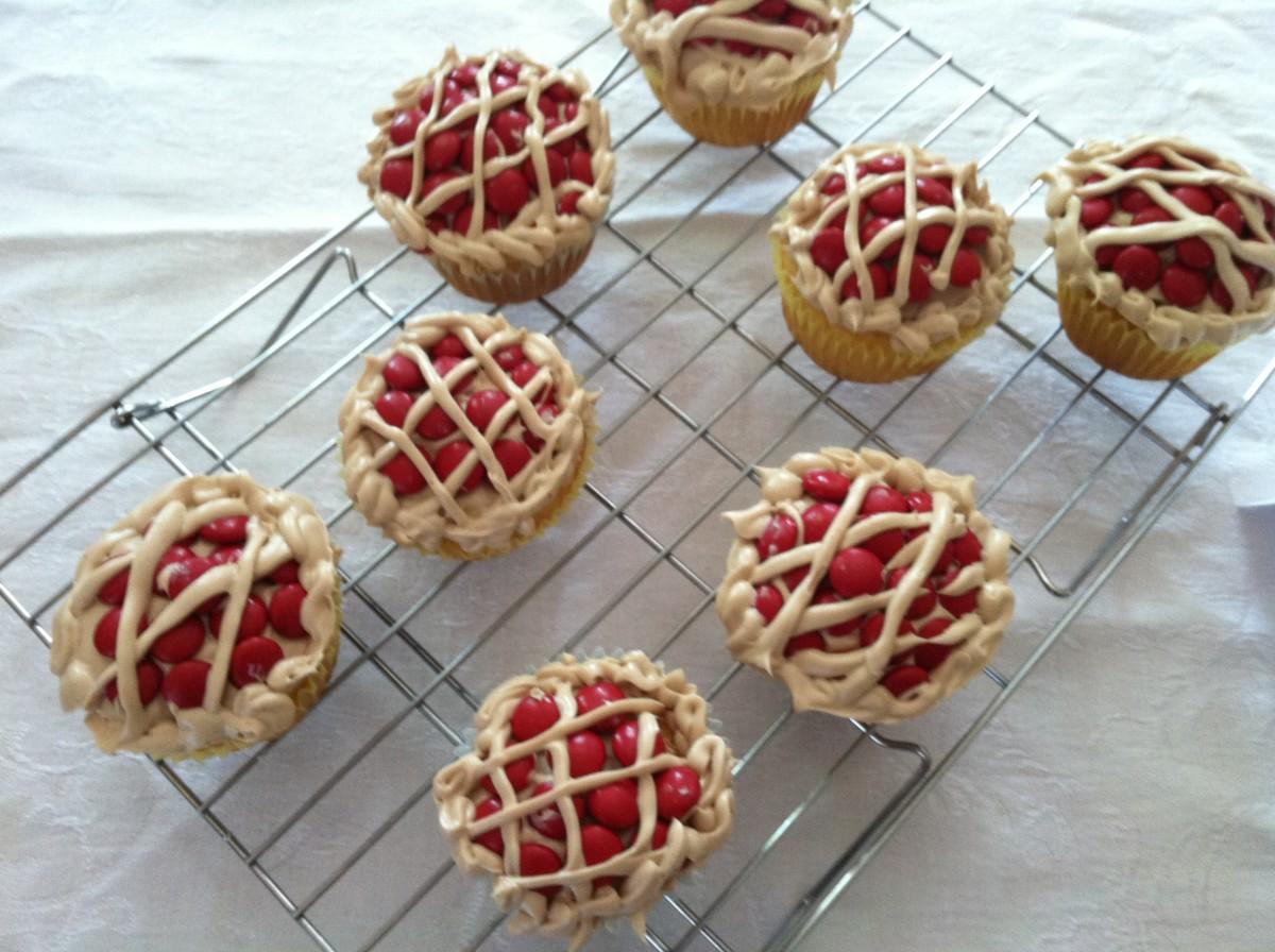 The Raspberry Pie Cupcakes