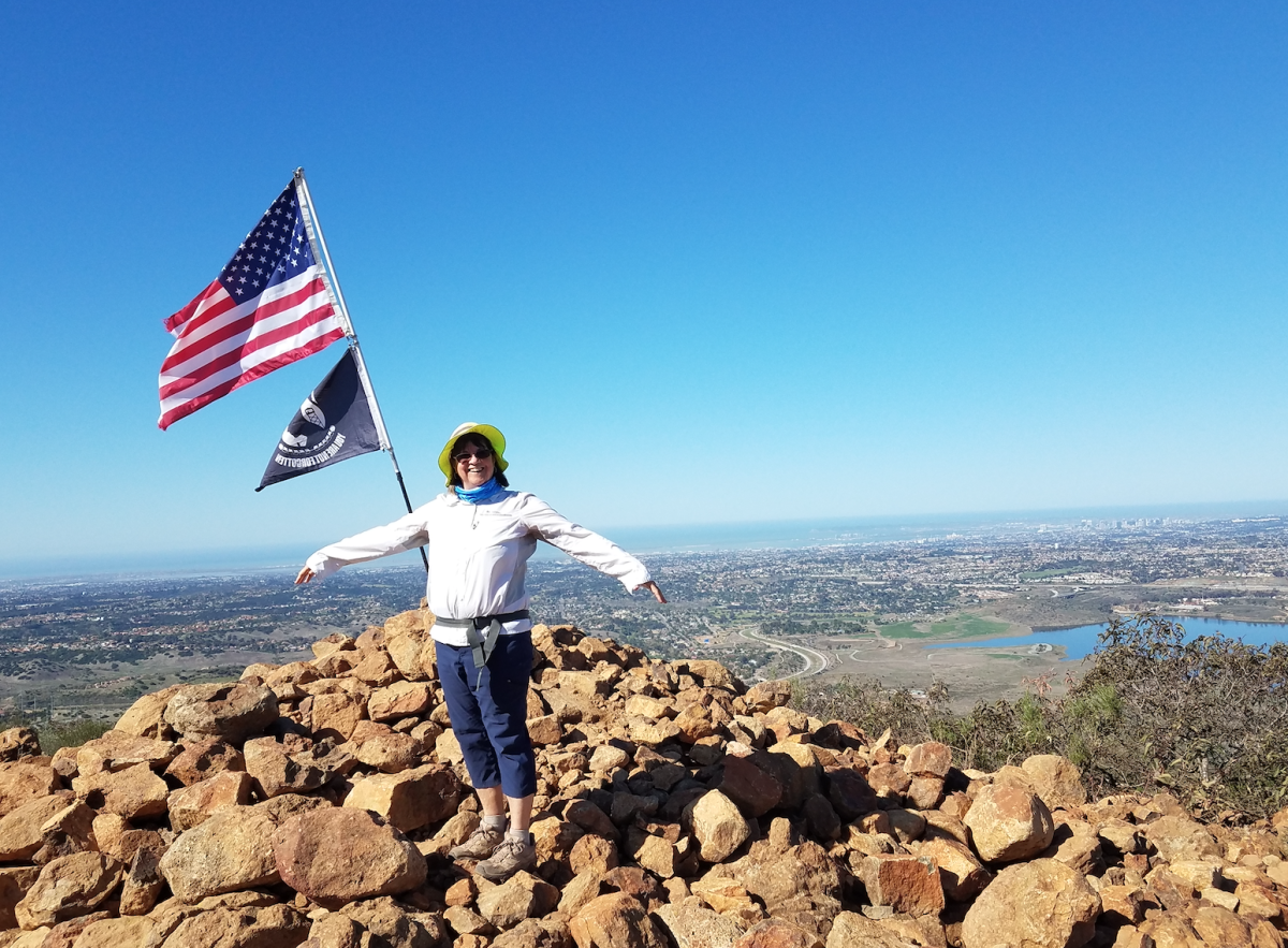 Mary at the top of Mother Miguel located in Chula Vista, California.