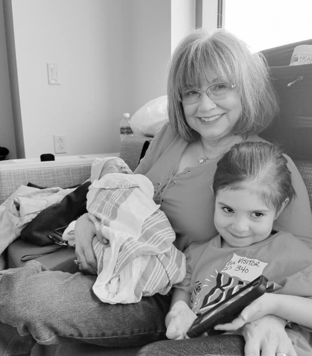 Tina Barton with granddaughters Nia and Addie.