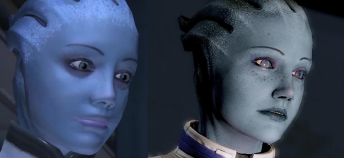 LIara's transformation.