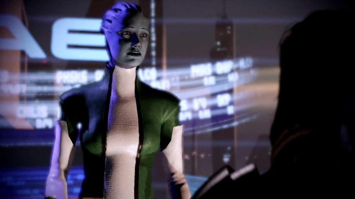 Liara argues with Shepard on Illium.