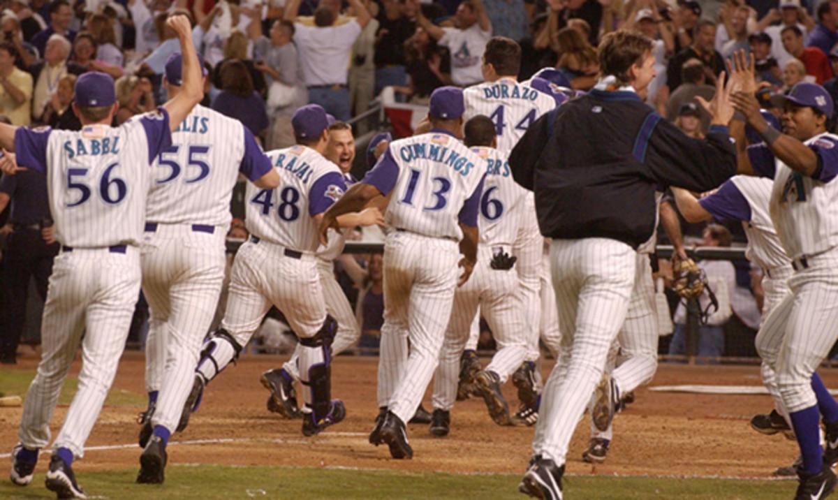 2001 World Series, celebration following Luiz Gonzalez's base hit.