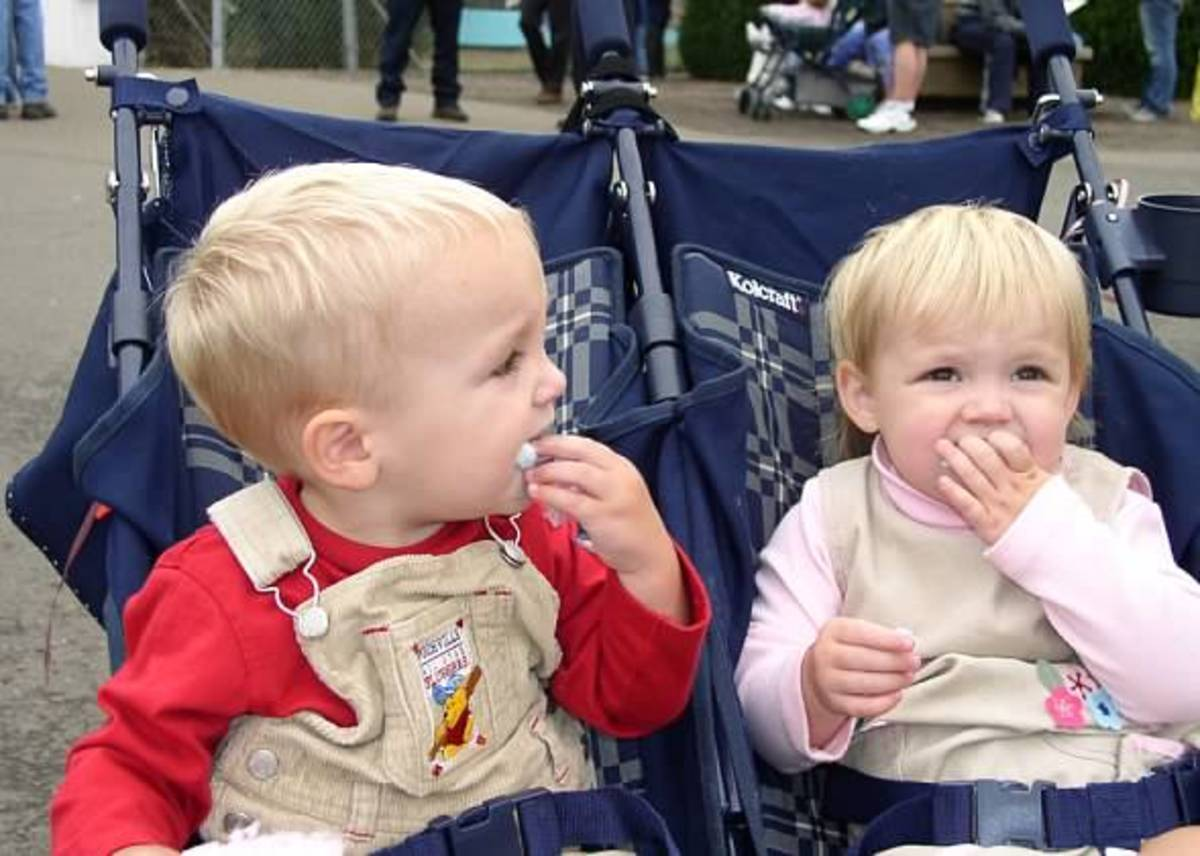 I never went anywhere without my double stroller when the twins were young: Walking helped me lose weight after pregnancy