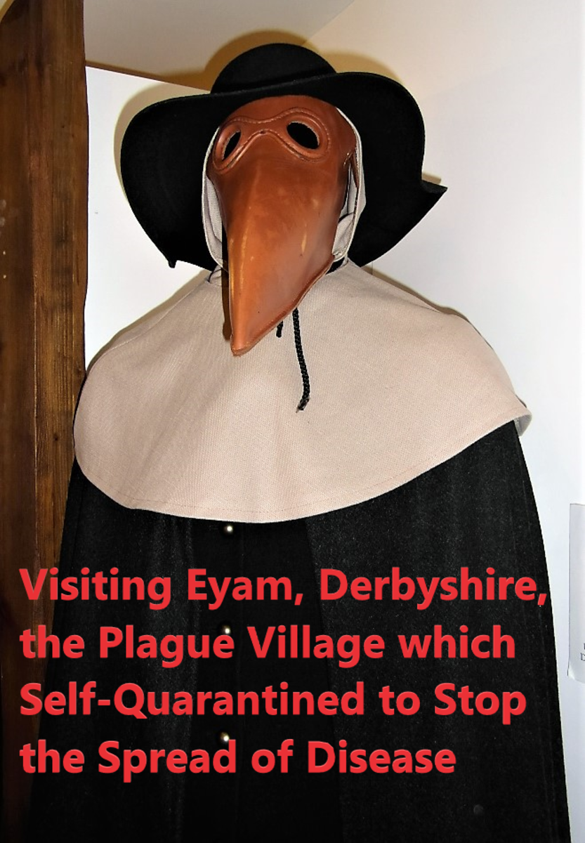 PPE in the 1660s. A plague doctor in Eyam Museum.